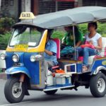 The Tuk Tuk- a kind of taxi in Chiang Mai and Huay Xai