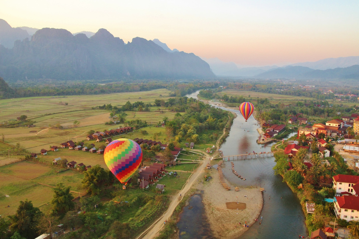 Balloons over Vang Vieng