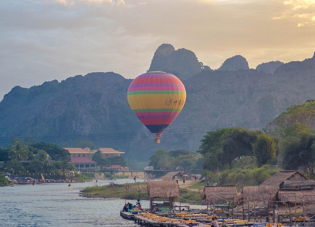 Best way to admire Vang Vieng village