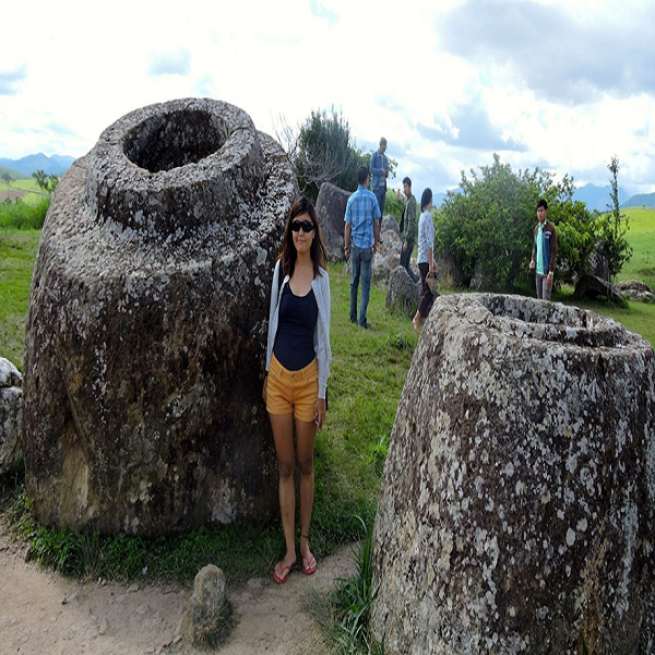 Many of stone jars are larger than a person