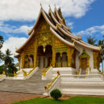 The mixed design of both Lao traditional and French colonial architecture