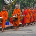 The monks' alms giving ceremony