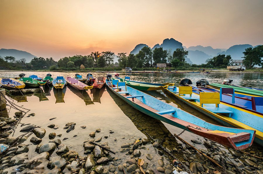 Vang Vieng, a peaceful, relaxing town in Laos